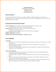 The Purpose Of A Resumes 11 Ministry Resume Happy Tots