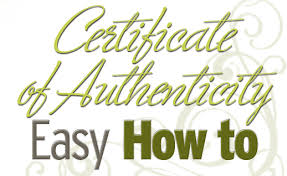 Certificate Of Authenticity Template Amazing Certificate Of Authenticity How To Create Your Own