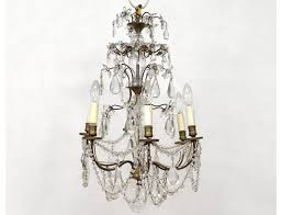 view full size previous chandelier 6 lights ormolu chandelier crystal glass garlands twentieth suspension