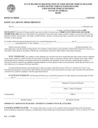 surety bond form fillable online georgia used car dealer surety bond form buysurety