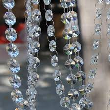 10 feet crystal beads chain garland of clear chandelier bead lamp