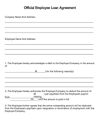 Company Loan To Employee Agreement 38 Free Loan Agreement Templates Forms Word Pdf