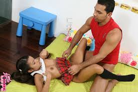Little Lupe Cute Teen Dressed In School Girls Out Fit Having Sex.