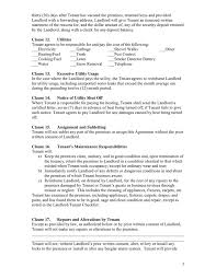 Standard Lease Agreement In Word And Pdf Formats Page 3 Of 6