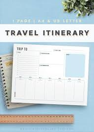 Free Trip Itinerary Planner Travel Planner Template New Vacation Printables Places To Go