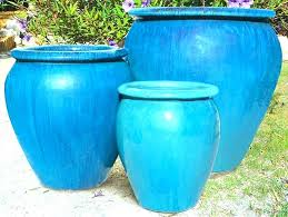 blue ceramic pot large pottery planters large outdoor glazed pottery designs blue ceramic planters large outdoor