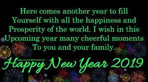 Happy New Year 2019 Quotes Wishes Messages For Friends And Family