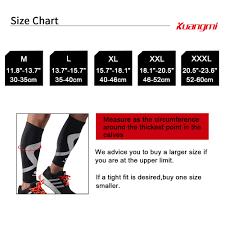 Us 20 69 10 Off Kuangmi 2pcs Calf Compression Sleeves Running Leg Sleeves Socks Cycling Calf Support Shin Guard Sleeve Protector Soccer Football In