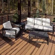 Trex Outdoor Furniture Rockport 3 Piece Outdoor Club Conversation