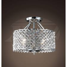 bedroom extraordinary flush mount crystal chandelie office room for