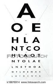 Eye Examination Snellen Chart Picture K18876914 Fotosearch