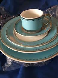Details About Darbie Angell Lauderdale 5 Piece Place Setting New Sample Make Offer Blue Silver