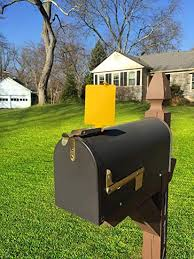 Mailbox with mail indicator Gibraltar Image Unavailable Idea Of The Day Amazoncom Mail Time Yellow Mailbox Alert Signal Flag For Long