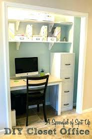 Office closet design Nook Office Closet Design Ideas Furniture Fascinating Cool Photo Desk Organization Offi Closet Desk Ideas In Office Awesome Small Home Design Thesynergistsorg Closet Desk Ideas Small Home Office Nooks Chrishogg