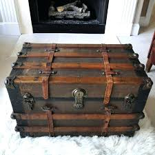 wood trunks coolest metal steamer trunk coffee table about interior decor home antique wooden wood storage chest with drawers