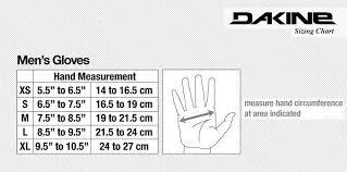 Dakine Sizing Guide Gloves Skatepro