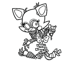 Stylish And Peaceful Fnaf Mangle Coloring Pages Sheemcity Fixed