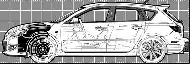 The-Blueprints.com - Blueprints > Cars > Mazda > Mazda 3 Hatchback ...