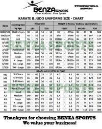 Karate Uniform Size Chart Adidas Taekwondo Sparring Gear Sizing Chart Adidas
