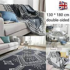 large cotton sofa throws blanket rug