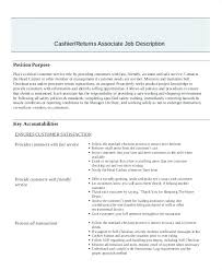 Customer Service Responsibilities Resume Job Description Examples