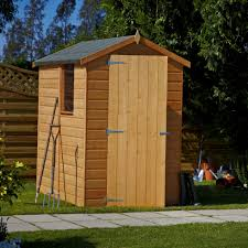 5 attachments of 6x4 Shiplap Wooden Shed Ideas #2 6X4 Aero Curved Roof  Shiplap Wooden Shed Base Included | Departments | DIY At B&Q