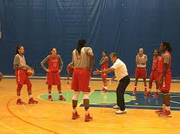 olympics photo essay from usa basketball practice head coach geno auriemma demonstrates a play during usa basketball practice at the msg training facility