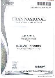 Download soal bahasa inggris sma/ma tahun 2019. Pdf Soal Un Bahasa Inggris Sma Tahun 2018 Suhadi Rembang Academia Edu