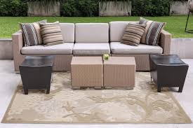 1 hampton bay structure fl beige indoor outdoor area rug 5 3 x 7 5 reg 49 97 29 00