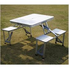 new portable aluminum folding table and chairs outdoor table sets1 table 4 chairs outdoor hiking furniture picnic tables steady