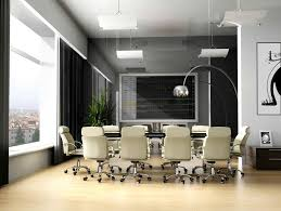 cool office decor ideas. office meeting room design inspiration with white armchairs furniture ideas also unique curved alminum floor lamps and beautiful outdoor scenery for cool decor d