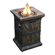 propane fire column outdoor wood grain propane gas fire column pit