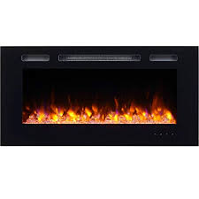 puraflame alice 40 recessed electric fireplace