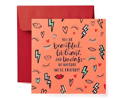 Badass Valentines Day Card For Friend