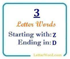 three letter words starting with z and