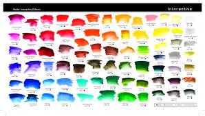 Atelier Acrylic Colour Chart Atelier Interactive Color Chart Paint Color Chart Color
