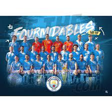 Manchester City FC Fourmidables Winners Poster – Alltrade - Online