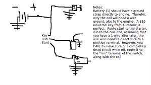 chevrolet el camino ignition coil wiring diagram questions for chevy small block 350 for test stand run using attached alternater 12volt systrm below is a small wiring diagram i made up in about 10 minutes