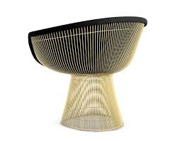 Warren Platner Gold Lounge Chair Knoll ...