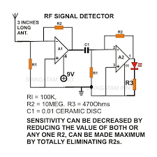 how to build a simple non contact ac voltage detector sensor non contact ac mains voltage sensor circuit diagram image