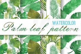 Palm Leaf Pattern Custom Palm Leaf Pattern Tropical Leaves Digi Design Bundles