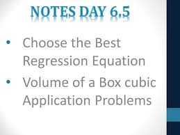 volume of a box equation. choose the best regression equation volume of a box d