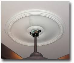 ceiling fan medallions. two piece ceiling medallion installation - start to finish fan medallions h