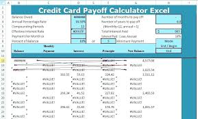 Credit Card Interest Calculator Credit Card Interest Calculator Excel Payoff Template Debt Reduction