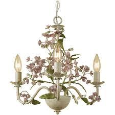 af lighting grace 3 light cream chandelier