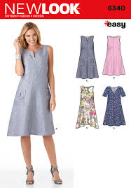 A Line Dress Pattern Stunning New Look Pattern 48 Misses' Easy Dresses Sewing Patterns Online