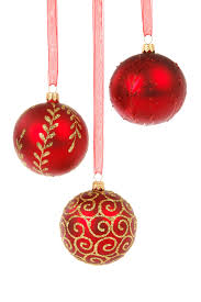15 Assorted Christmas Ornaments On A White Background Www