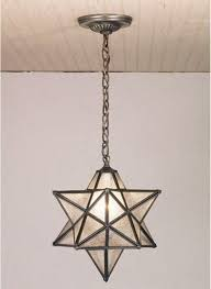 image of moravian star ceiling light fixture