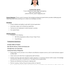 Objective For Resume Awesome Job Objectives On Resumes Popular Assignment Editor 65