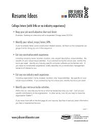 good examples of resumes for college students download career objective  statements resume best letters etc images